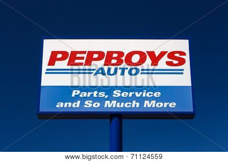 Pep Boys Auto Parts Store Sign