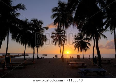 Sunset At Crash Boat Beach