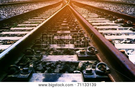 Railway Junction Use For Transportation And Transport Of Rail Industry