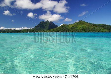 View Of Bora Bora Island in French Polynesia