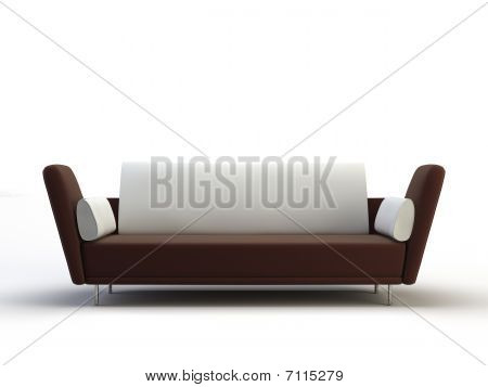 sofa on the white background from visualife poster