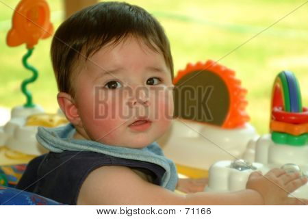 Children- Baby Playing Outside