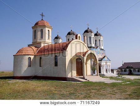 Orthodox Monastery Codru With Two Churches,  Near Tulcea , Romania