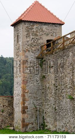Fortification with the corner squared tower