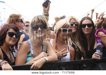 Fans at a Festival CONCERT CROWD