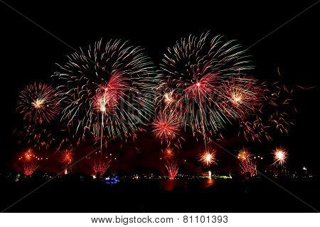 Fireworks on Australian day in Perth 2015