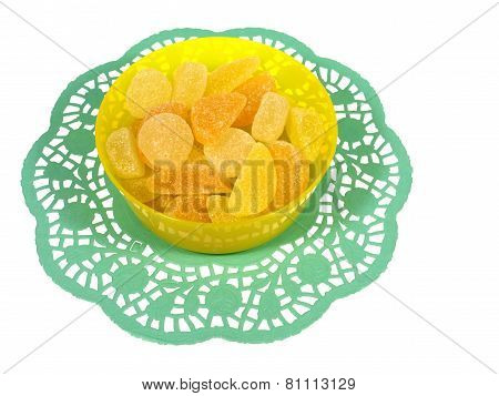 Isolated bowl with many sugar candies