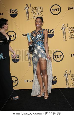 LOS ANGELES - JAN 25:  Vicky Jeudy at the 2015 Screen Actor Guild Awards at the Shrine Auditorium on January 25, 2015 in Los Angeles, CA