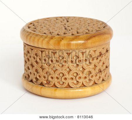 Carved Box Made Of Birch Bark