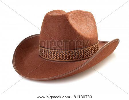 cowboy hat isolated on white background
