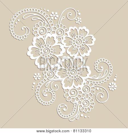 Element of Flower ornament. Vector illustration.