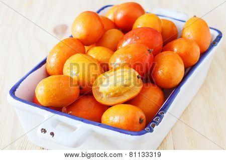Fruit Jocote (red Mombin, Purple Mombin, Hog Plum, Ciruela Huesito, Sineguela,  Siriguela) In White