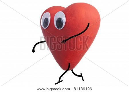 Heart Character Quietly