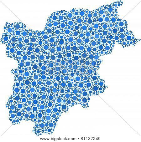 Map of Trentino Alto Adige