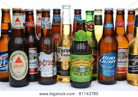 Assortment Of Beer Brands