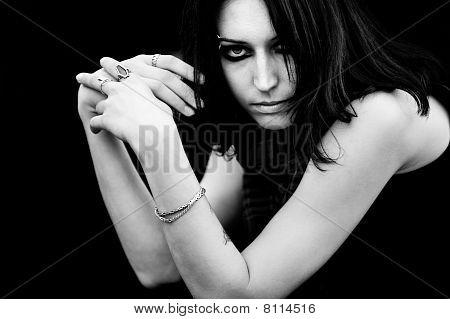 Goth Woman Portrait