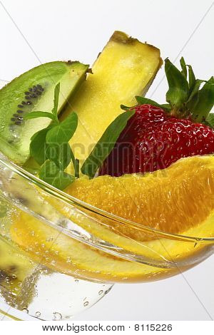 Fruit And Bubbles Close