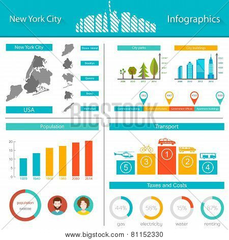 Vector Infographics New York City