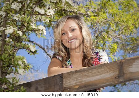 Beautiful Girl In An Outdoor Setting.