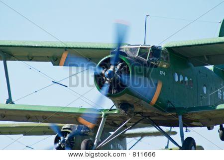 Biplanew An-2 (Antonov) take-off