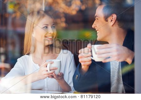 Enjoying Fresh Coffee Together.