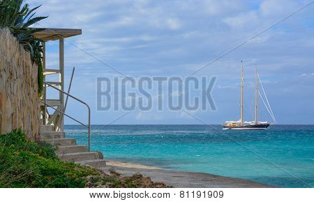 Sailboat On Azure Seas
