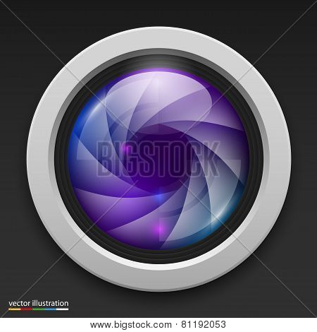 Photography camera icon background. Vector