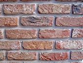 vintage red brick wall heap. closeup stone texture concept poster