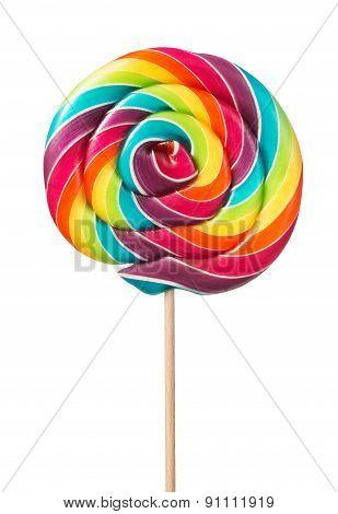 Colorful, Handmade Lollipop