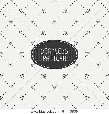 Monochrome hipster fashion geometric seamless pattern with diamond. Wrapping paper. Paper for scrapb