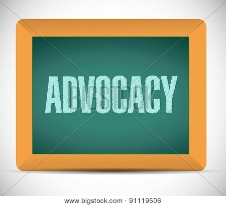 Advocacy Board Sign Concept Illustration