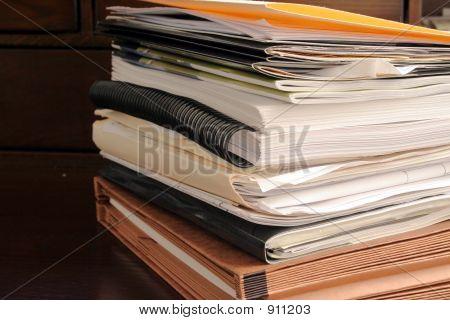 Stack Of File Folders & Paperwork