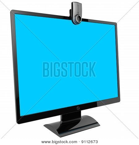 Computer monitor. Video call equipment (Hi-Res)