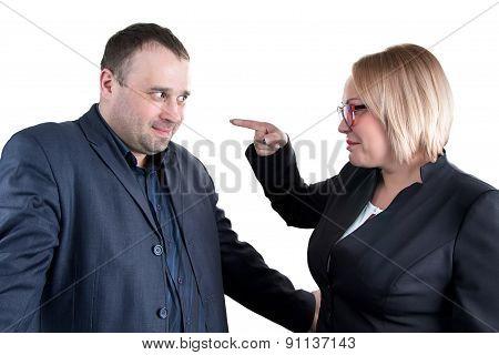 Photo of chief rebukes employee
