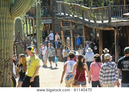 A Busy Day At Goldfield Ghost Town, Arizona