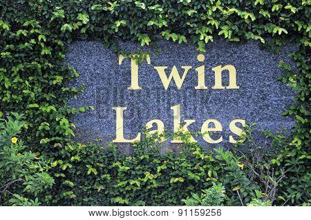 Twin Lakes Neighborhood Entry Sign