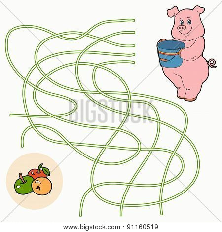 Maze Game For Children (pig)