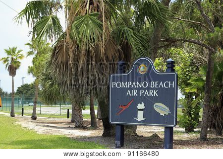 Pompano Beach Air Park Sign