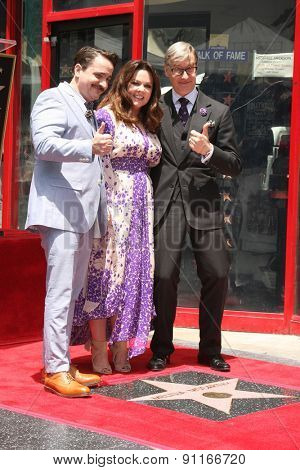 LOS ANGELES - MAY 19:  Ben Falcone, Melissa McCarthy, Paul Feig at the Melissa McCarthy Hollywood Walk of Fame Ceremony at the TCL Chinese Theater on May 19, 2015 in Los Angeles, CA