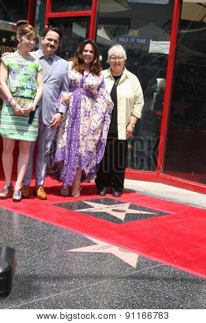 LOS ANGELES - MAY 19:  Melissa McCarthy, Family, Ben Falcone at the Melissa McCarthy Hollywood Walk of Fame Ceremony at the TCL Chinese Theater on May 19, 2015 in Los Angeles, CA