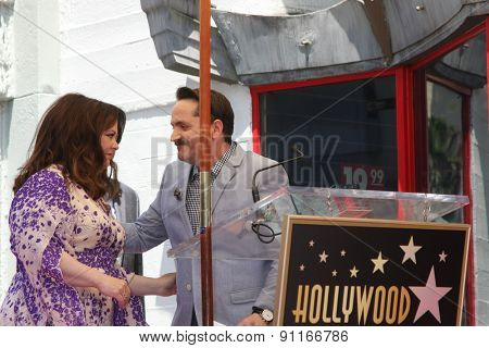 LOS ANGELES - MAY 19:  Ben Falcone, Melissa McCarthy at the Melissa McCarthy Hollywood Walk of Fame Ceremony at the TCL Chinese Theater on May 19, 2015 in Los Angeles, CA