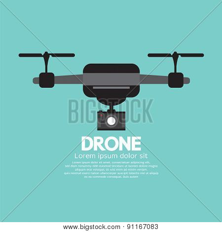 Side View Of Drone.