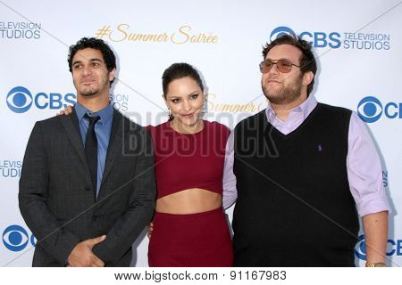 LOS ANGELES - MAY 18:  Elyes Gabel, Katharine McPhee, Ari Stidham at the CBS Summer Soiree 2015 at the London Hotel on May 18, 2015 in West Hollywood, CA