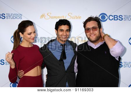 LOS ANGELES - MAY 18:  Katharine McPhee, Elyes Gabel, Ari Stidham at the CBS Summer Soiree 2015 at the London Hotel on May 18, 2015 in West Hollywood, CA