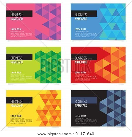 Set Of Six Abstract Name Card.