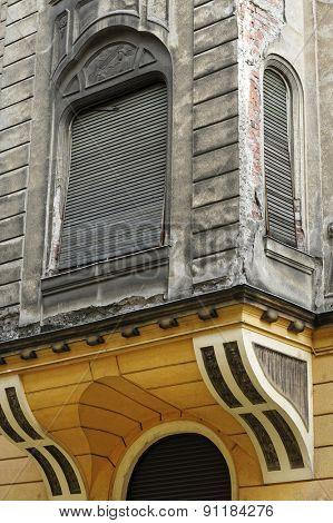 Old architectural detail in Arad, Romania