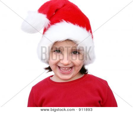 Happy Little Santa Clauss Girl
