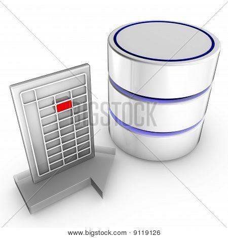 Importieren von Daten in einer Datenbank