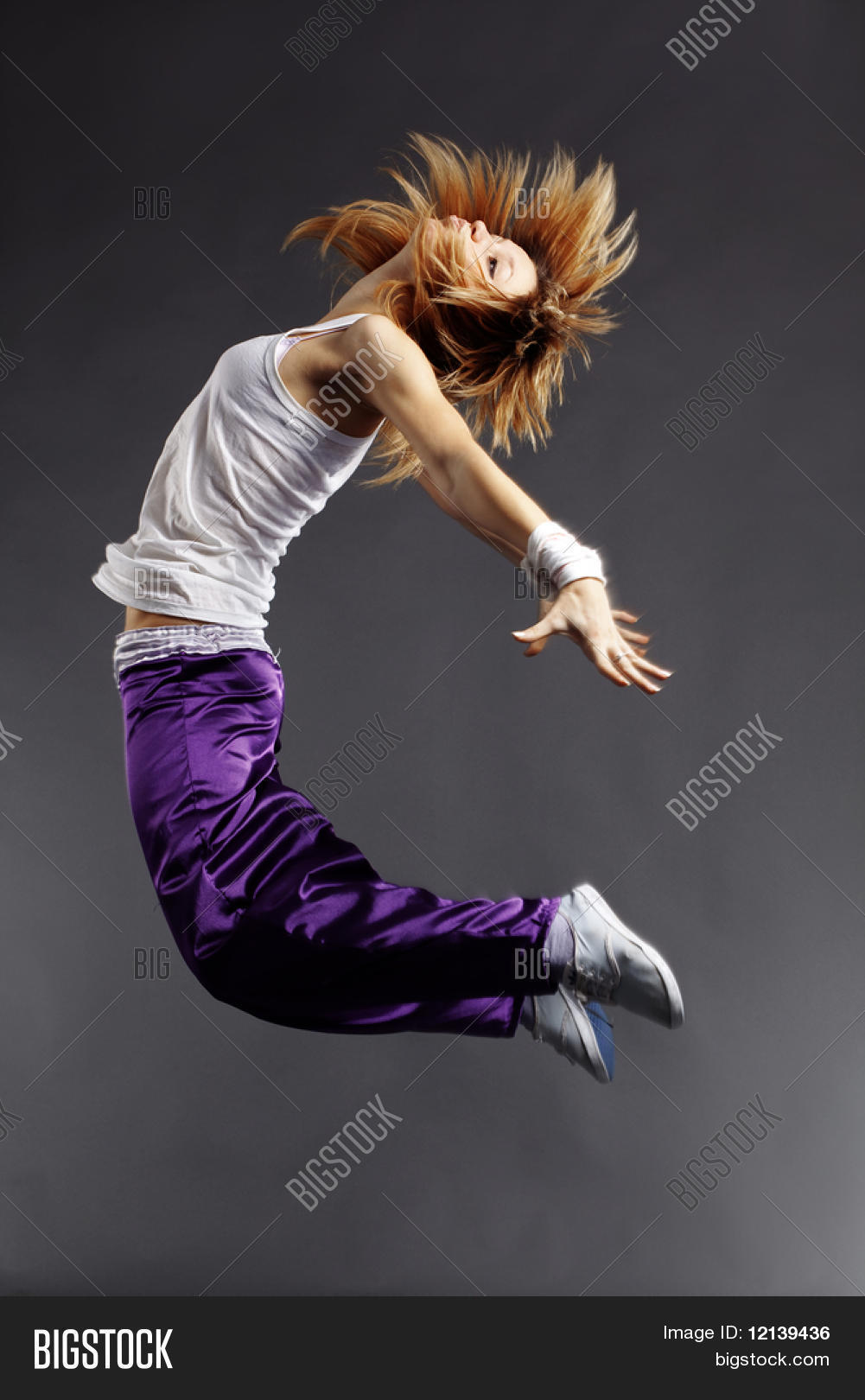 Teenage Girl Dancing Image Photo Free Trial Bigstock