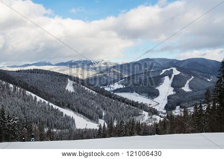 Ski Resort Bukovel, Ukraine.